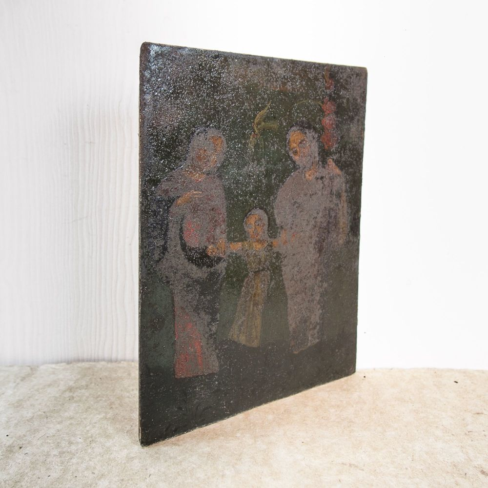 "18th C. Spanish ""Holy Family"" Retablo £275.00"