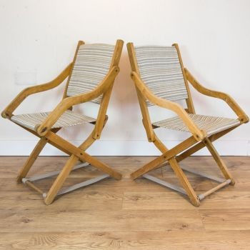 Early Mid-Century Campaign Chairs  SOLD
