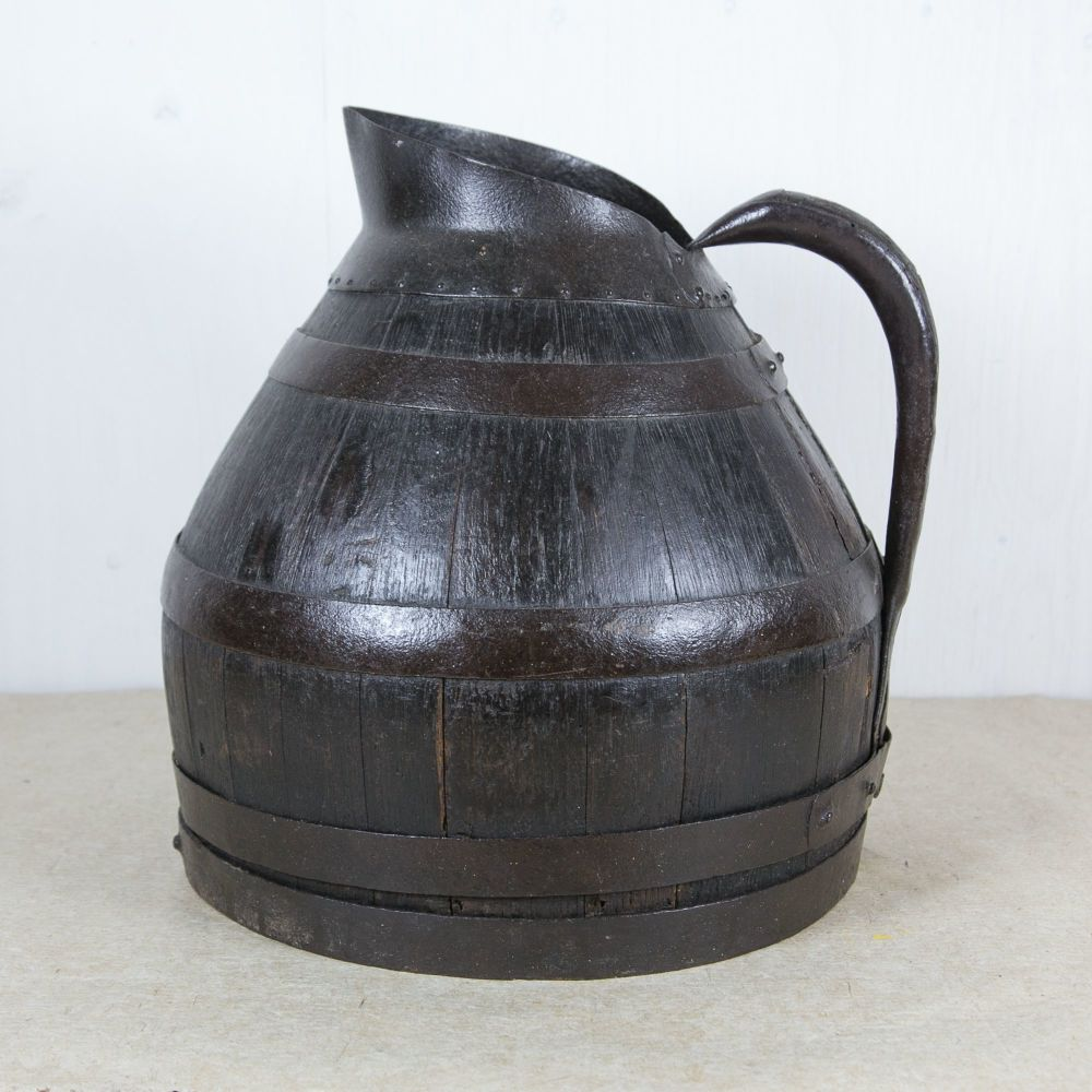 19th Century Coopered Oak Cider Jug SOLD