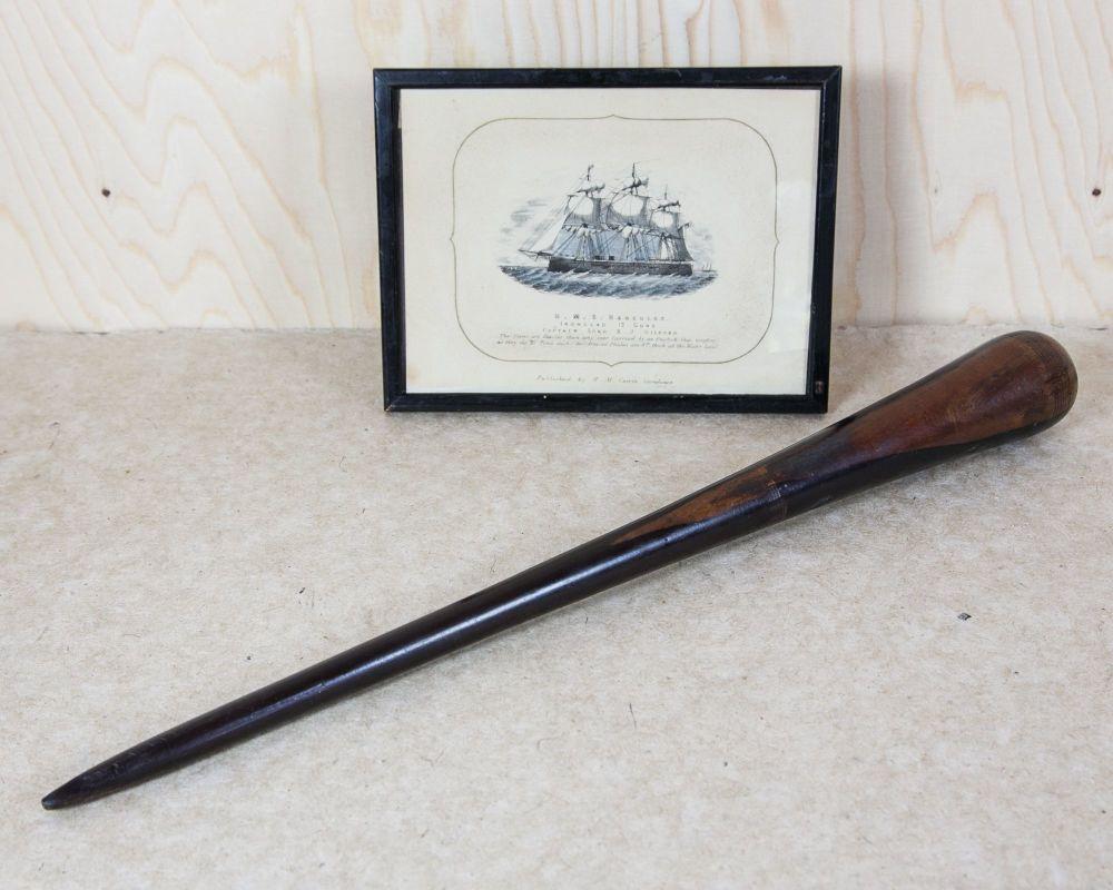 18th Century Turned Lignum Vitae Sailor's Fid SOLD
