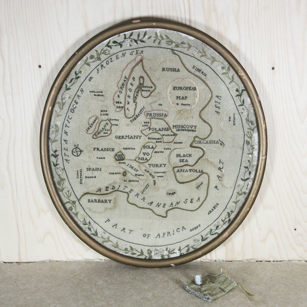 Embroidered Map Sampler