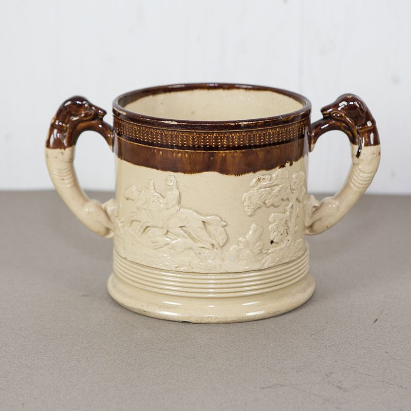 19th C. Salt Glaze Loving Mug £75.00