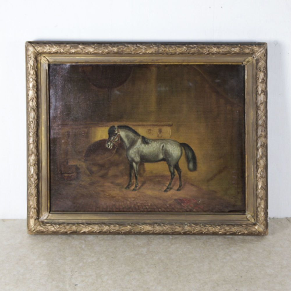 19th C. Oil Painting of a Miniature Horse or Pony £735.00