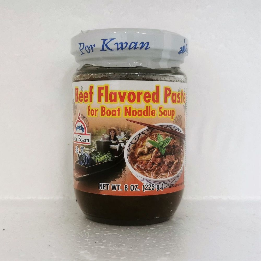 Por Kwan Beef Flavoured Paste for Boat Noodle Soup 225g