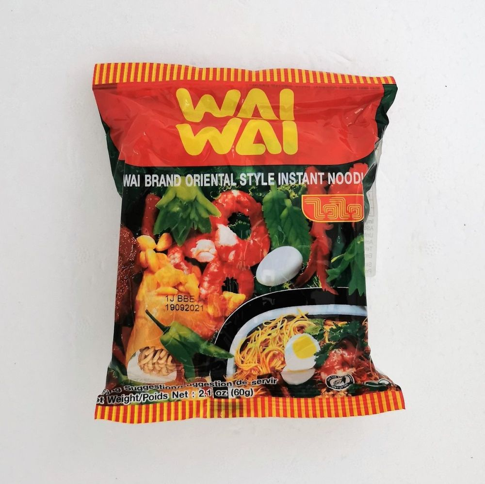 Wai Wai Thai Oriental Style Instant Noodles 60g