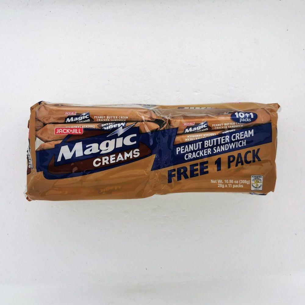 Jack n Jill Magic Creams Peanut Butter 11x28g