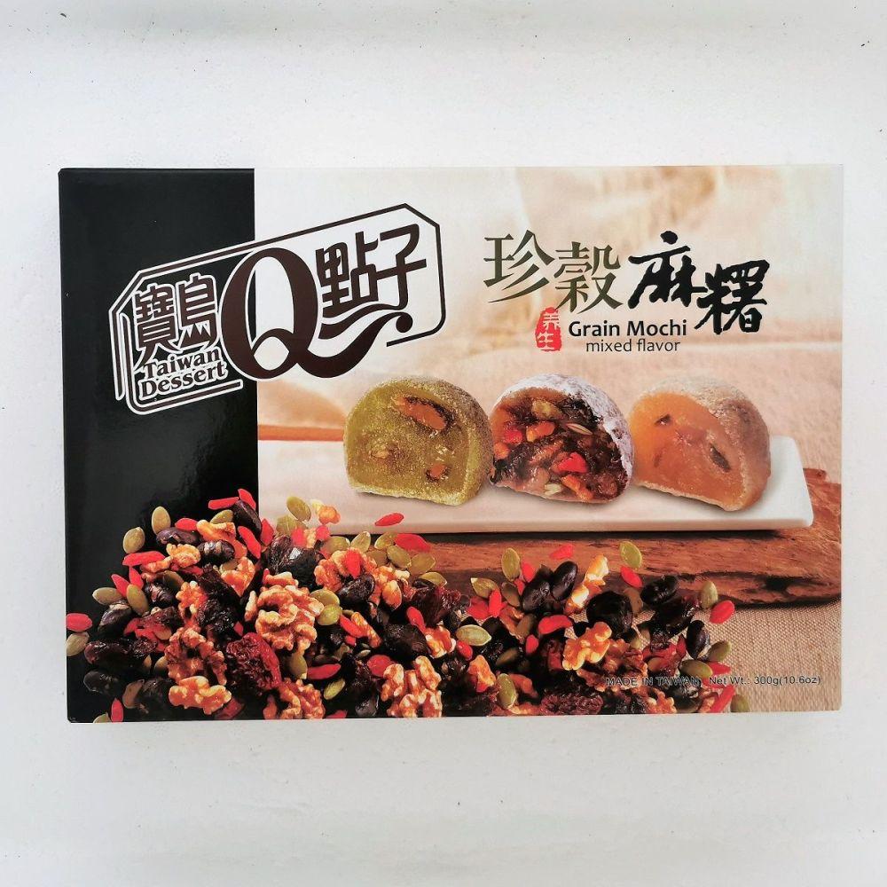 Q Grain Mochi Mixed Flavour 300g (12 pcs)
