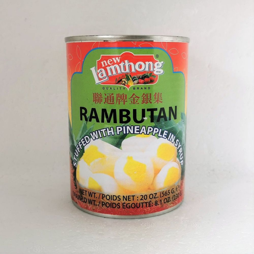 New Lamthong Rambutan Stuffed with Pineapple in Syrup 565g
