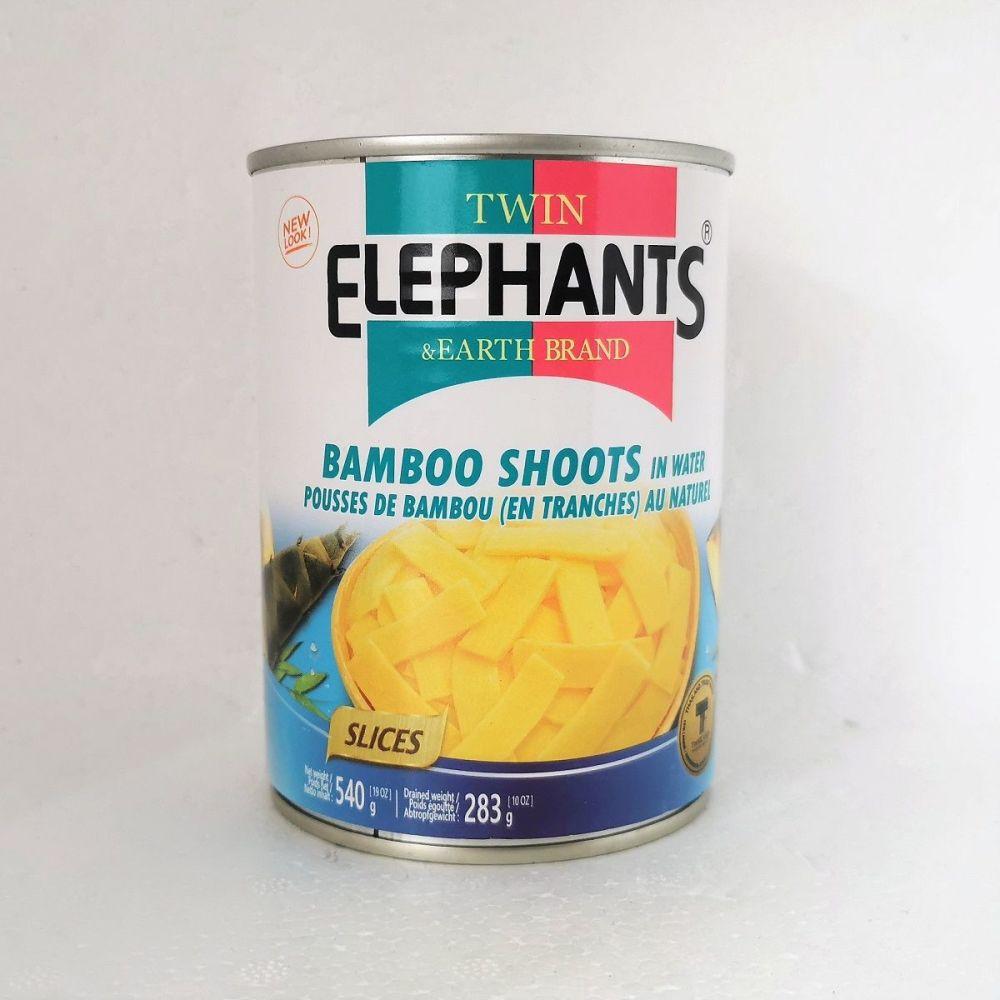 Twin Elephants Bamboo Shoot in Water 540g