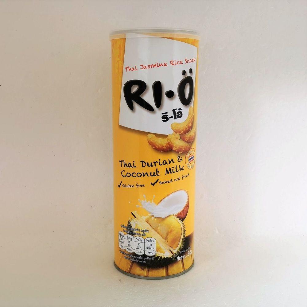 Ri-O Thai Jasmine Rice Snack Thai Durian & Coconut Milk  Flavour 55g