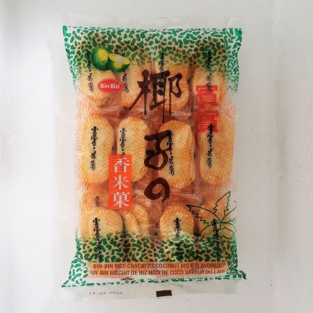 Bin-Bin Rice Crackers Coconut Flavour 150g