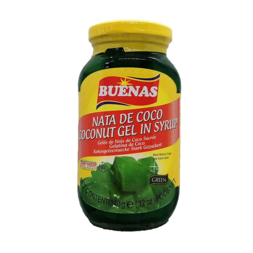 Buenas Nata de Coco Coconut Gel in Syrup Green 340g