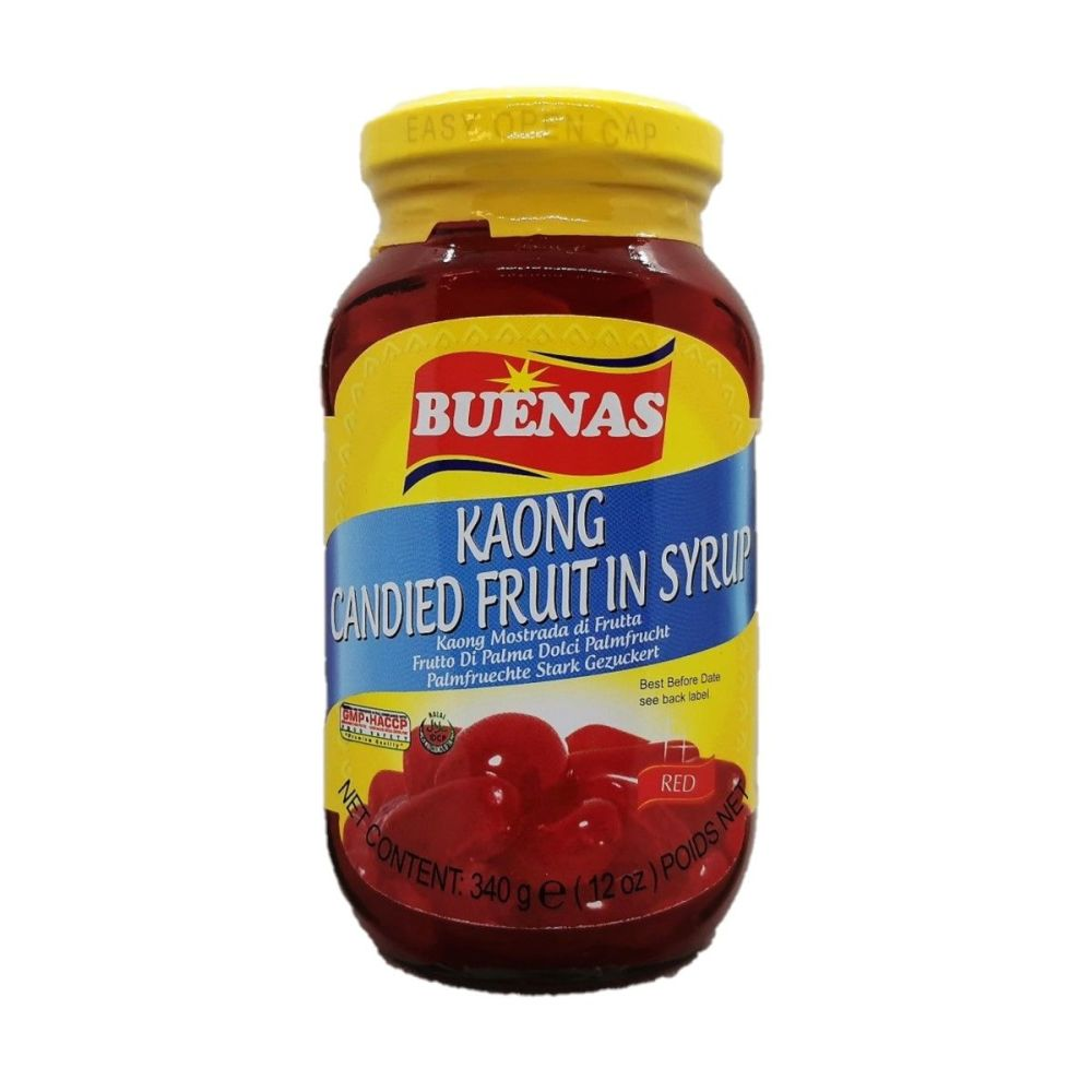 Buenas Kaong Candied Fruit in Syrup Red 340g