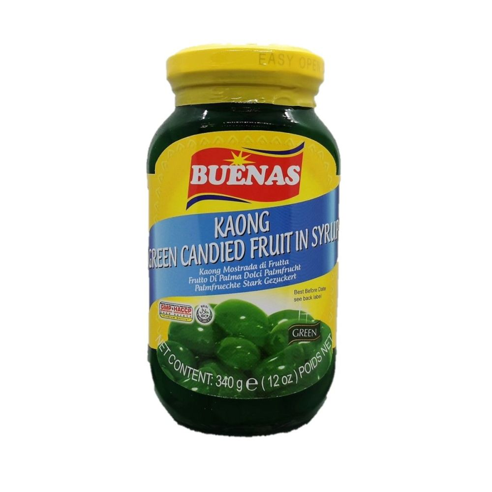 Buenas Kaong Candied Fruit in Syrup Green 340g