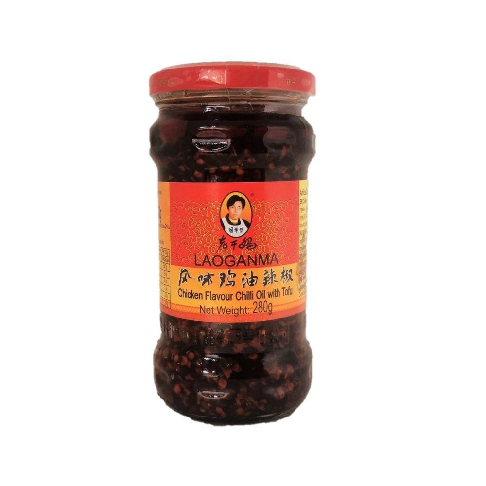 Laoganma Chicken Flavour Chilli Oil with Tofu 280g