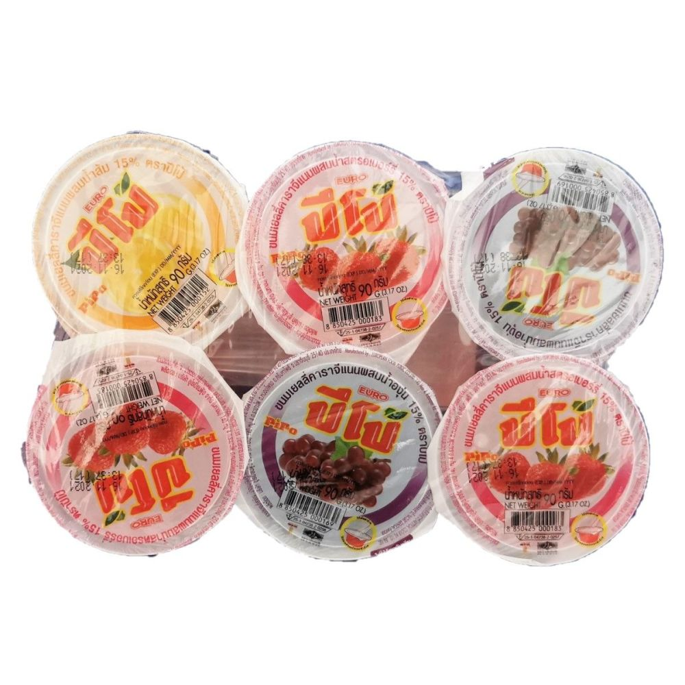 Pipo Mixed Flavoured Jelly 6x90g
