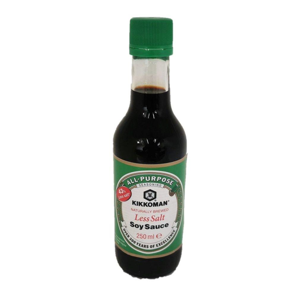 Kikkoman All-Purpose Soy Sauce Less Salt 250ml