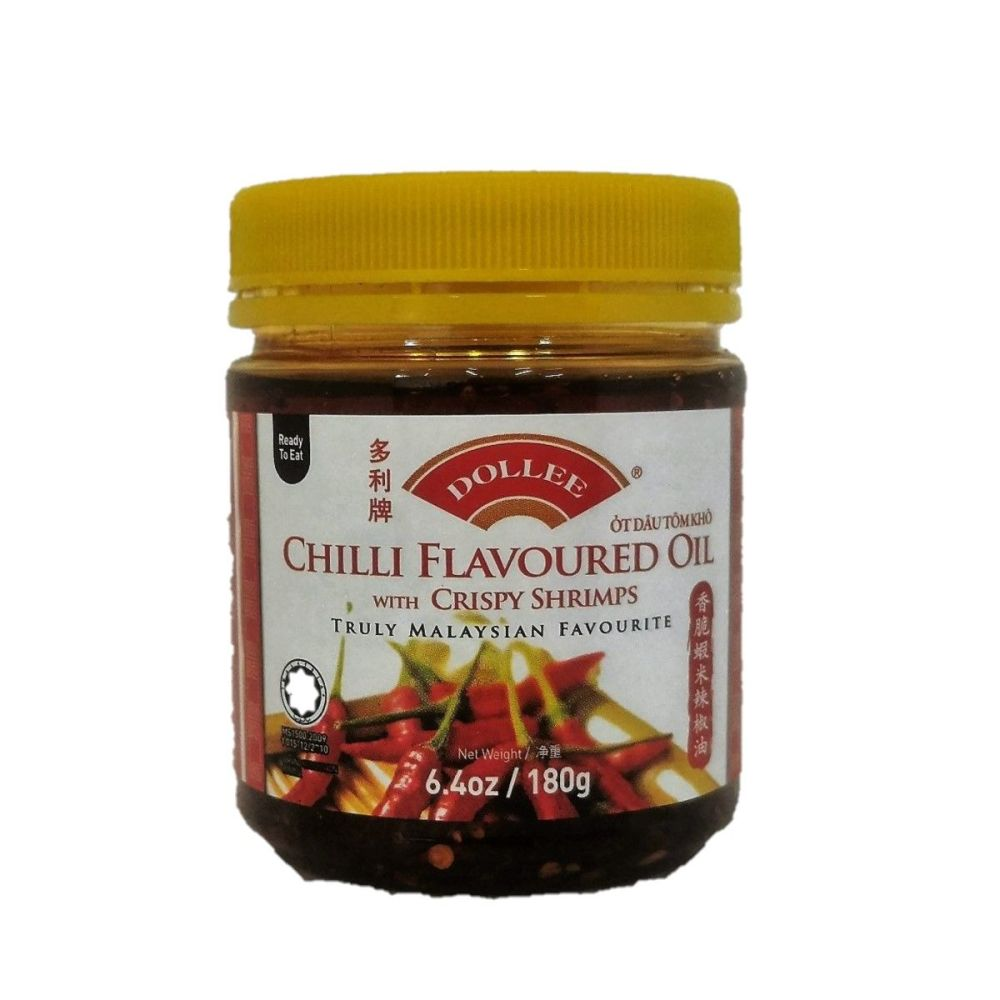 Dollee Chilli Flavoured Oil with Crispy Shrimps 180g