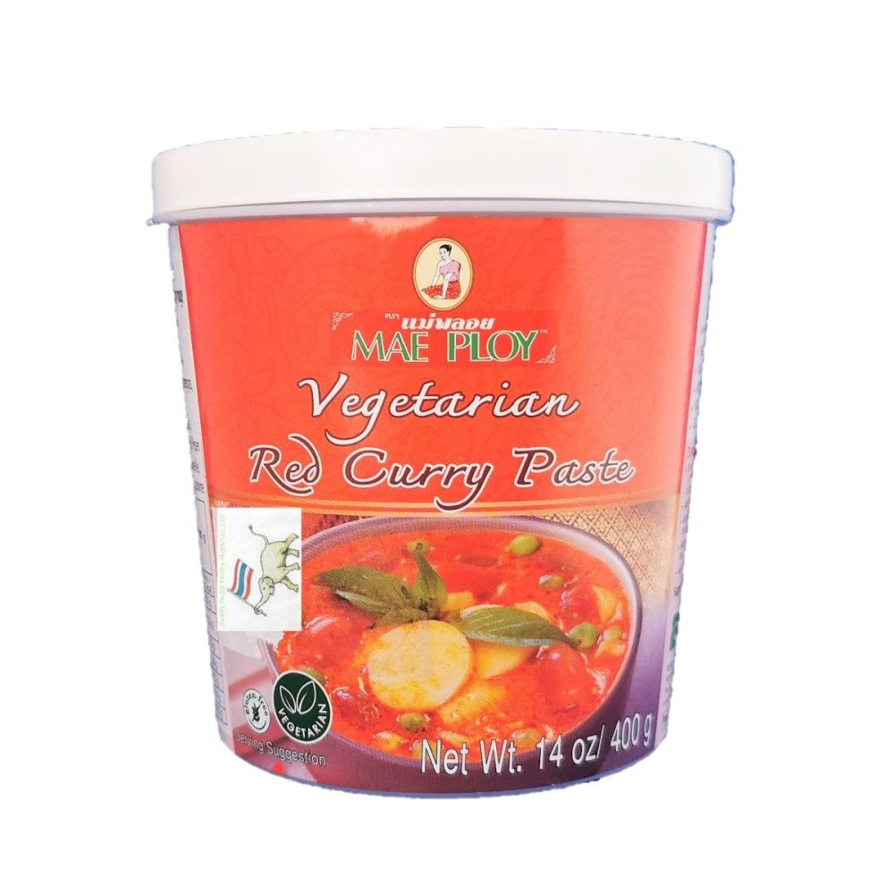 Mae Ploy Vegetarian Red Curry Paste 400g
