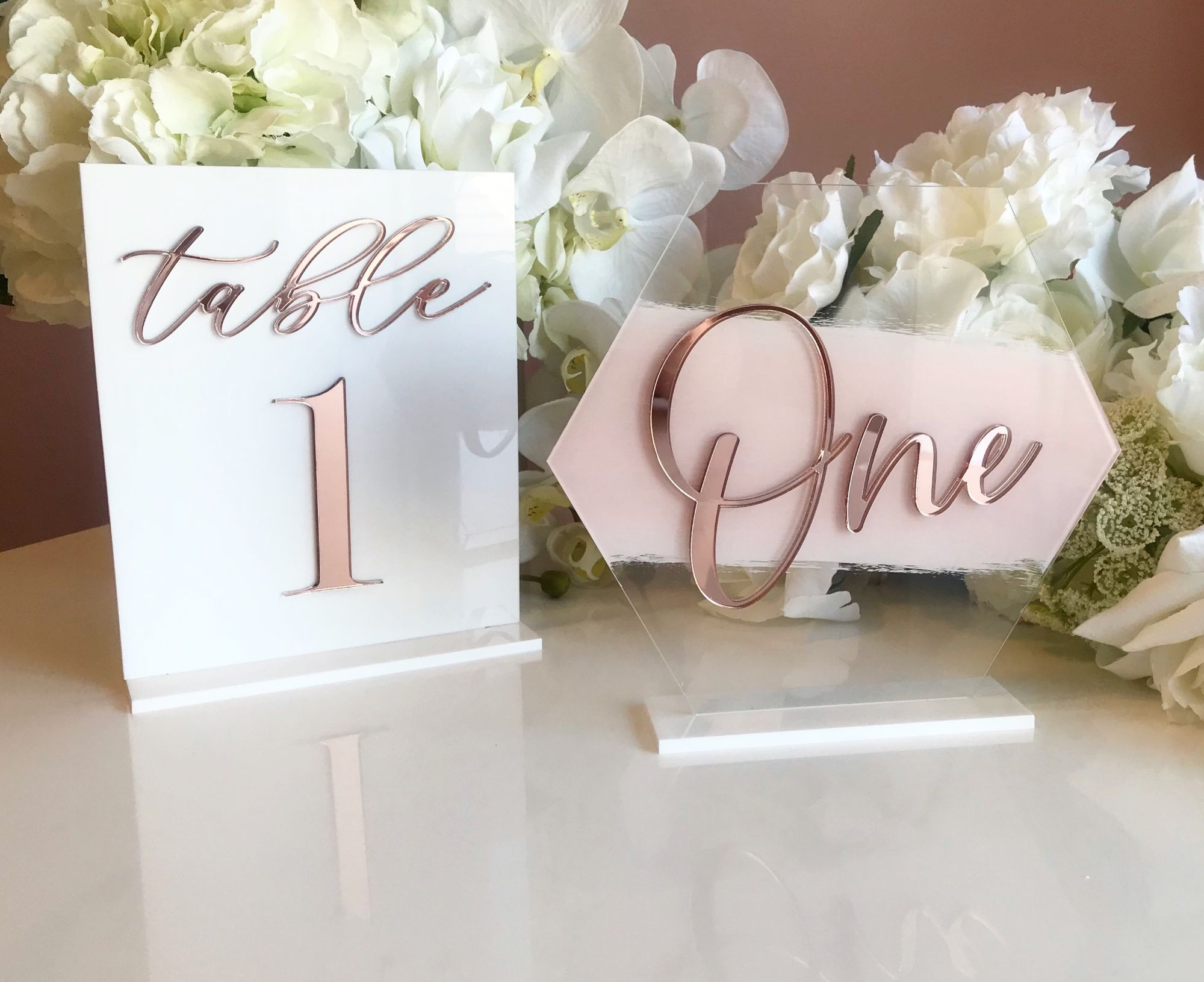 luxury wedding decor table signs