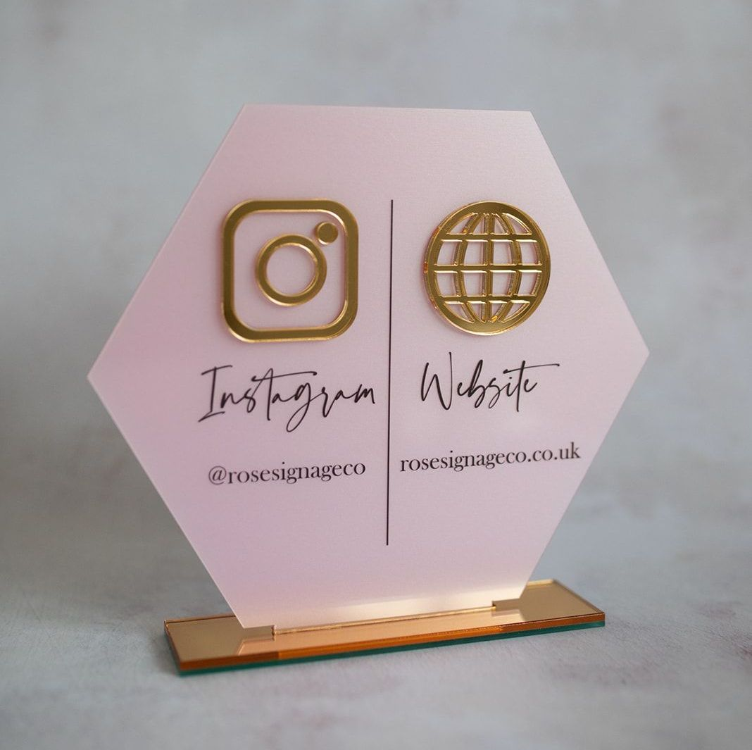 social media signage available from etsy