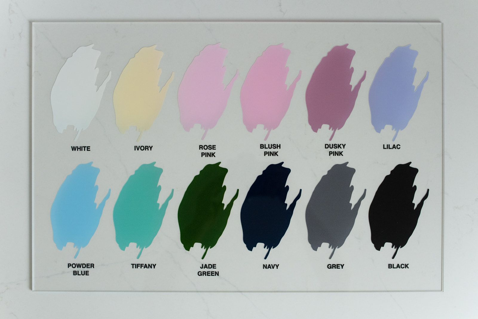ACRYLIC BUSINESS SIGNAGE COLOUR OPTIONS