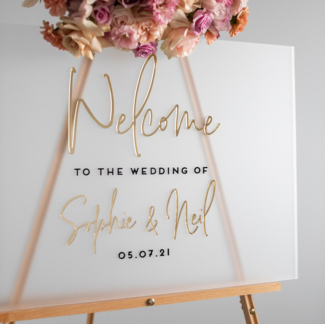 luxury wedding signage