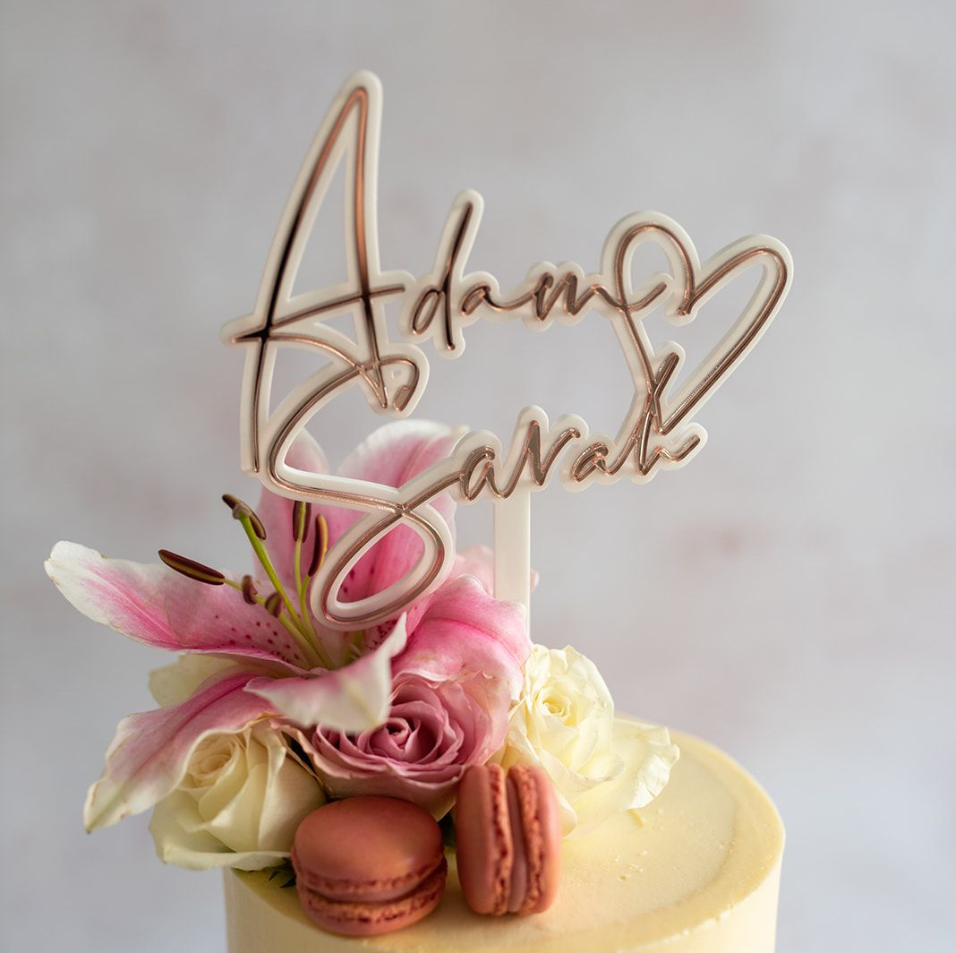 luxury wedding cake topper