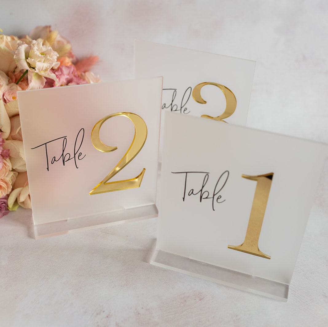 laser cut wedding table numbers