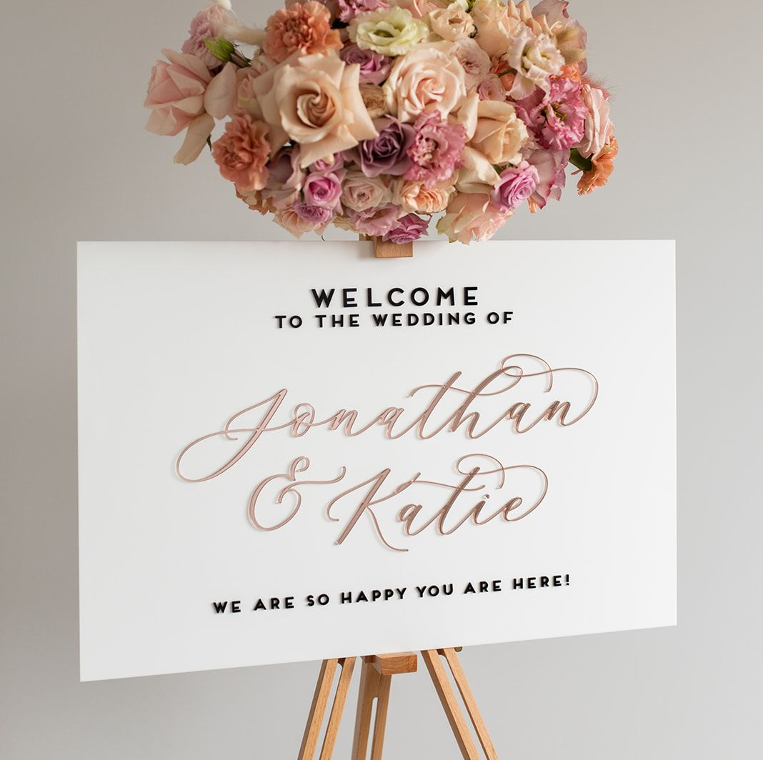 laser cut name wedding sign
