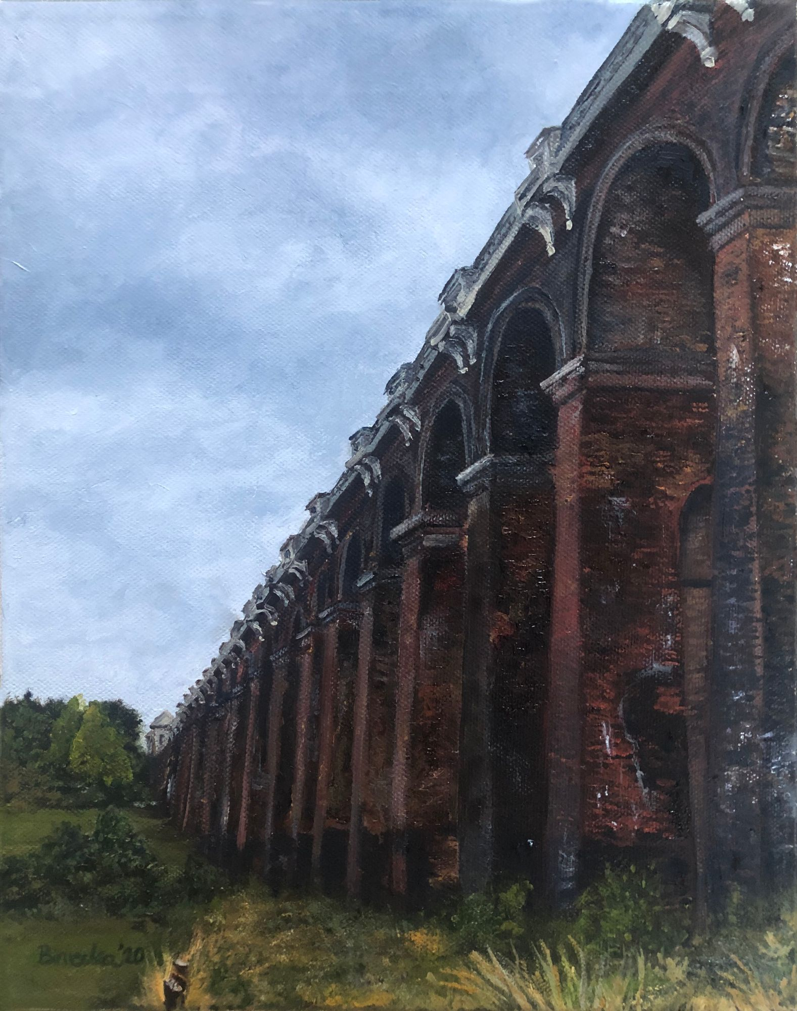 Ouse Valley Viaduct  oil painting