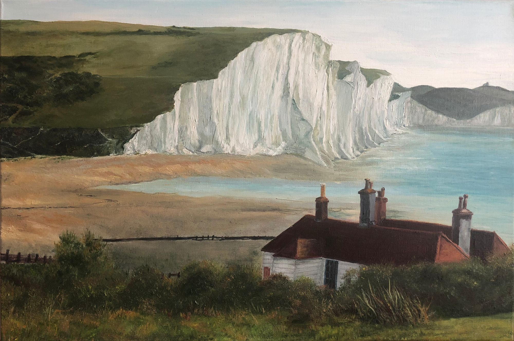Seven Sisters Cliffs oil painting