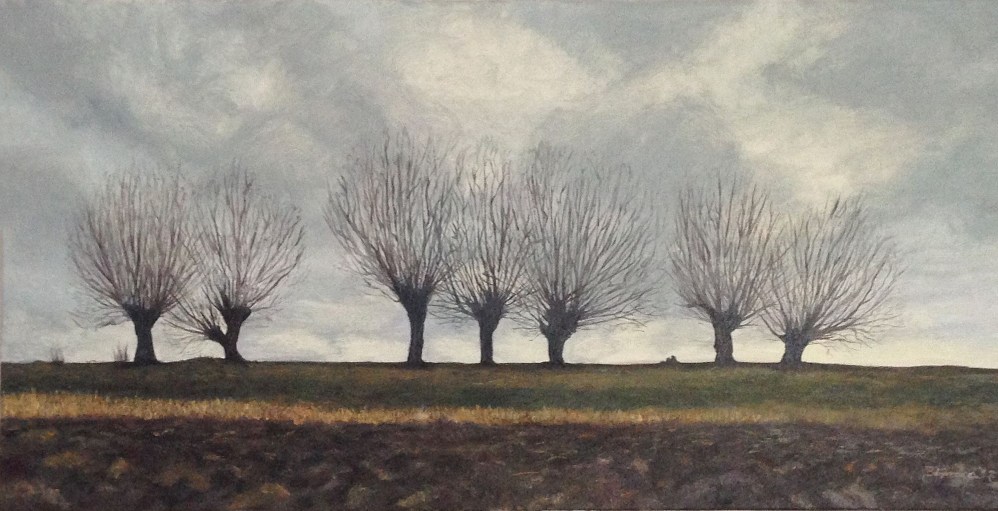 Willow Trees oil painting