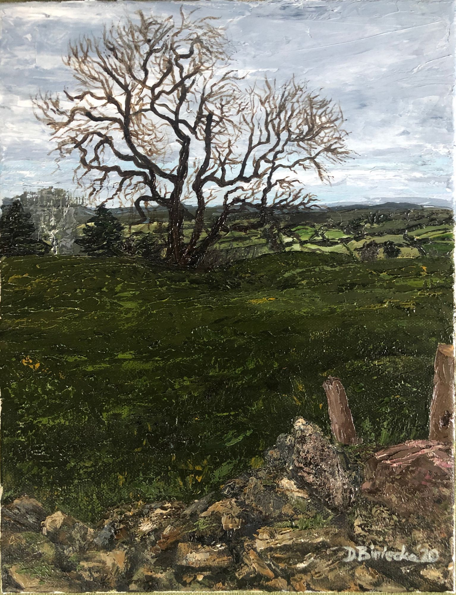 Cotswolds Way oil painting
