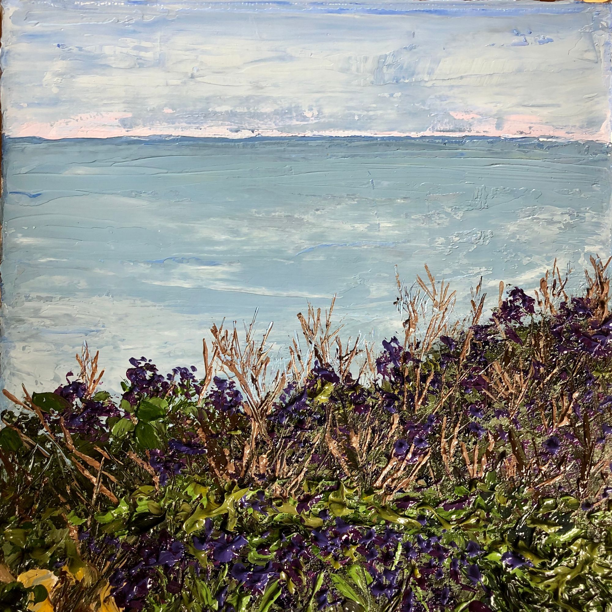 Roedean seascape oil painting