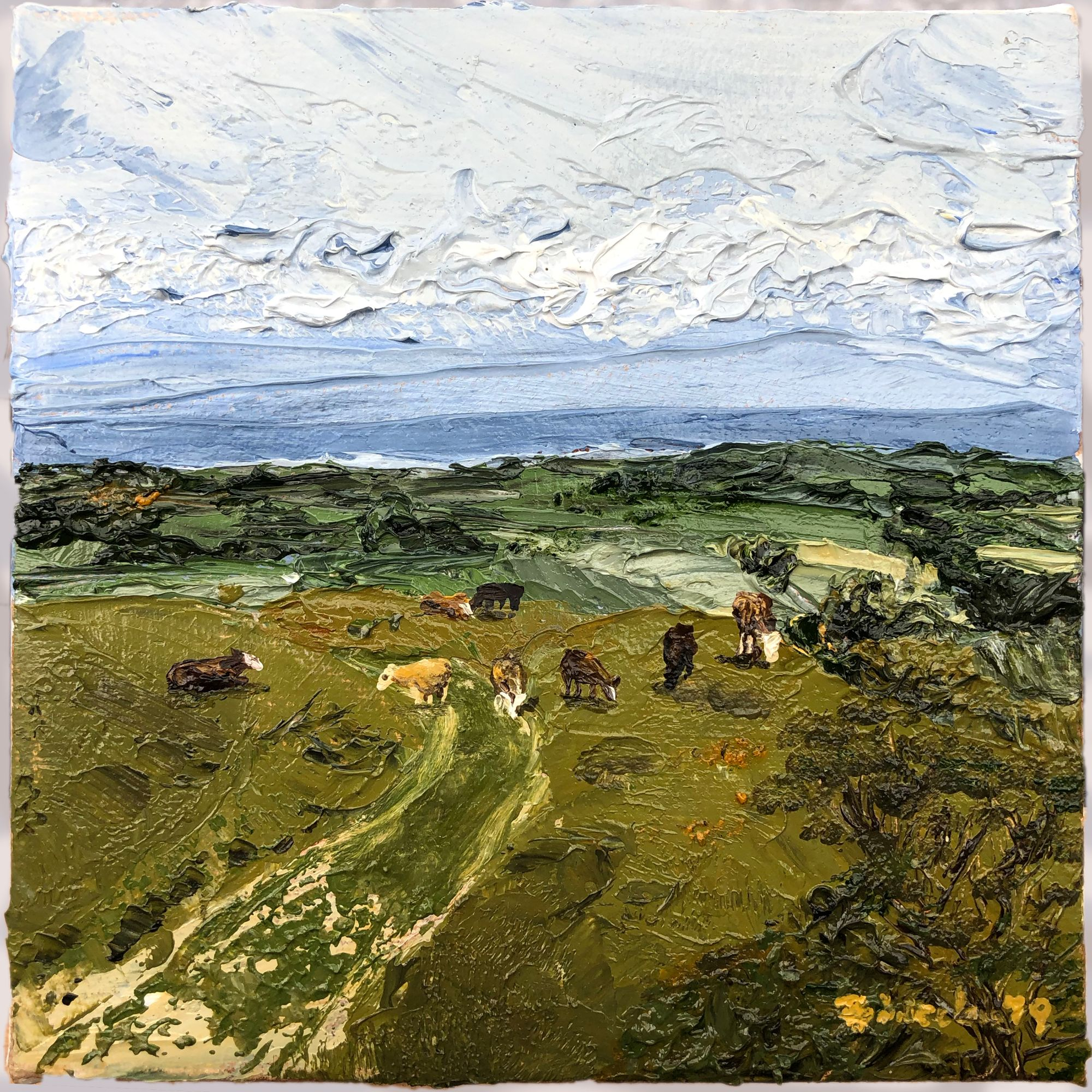 Sussex Fields oil painting