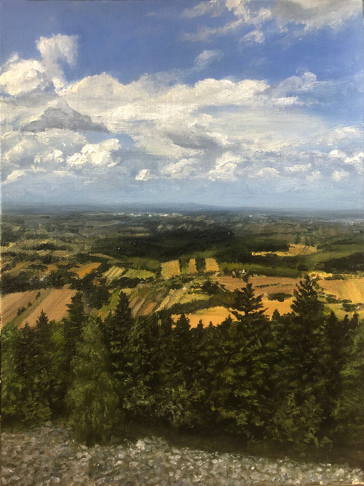 View from the Bald Mountain in Poland