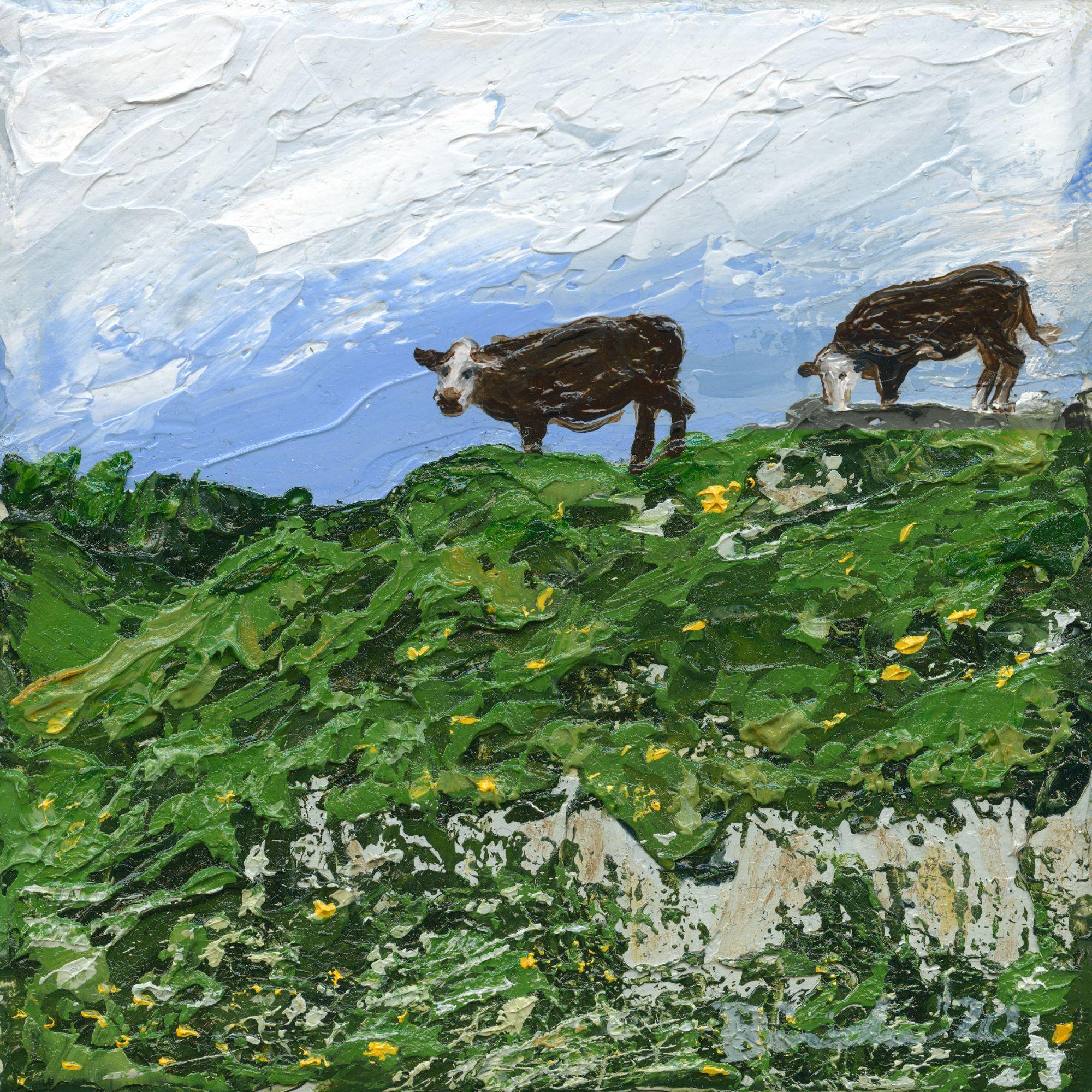Sullington hills  oil painting