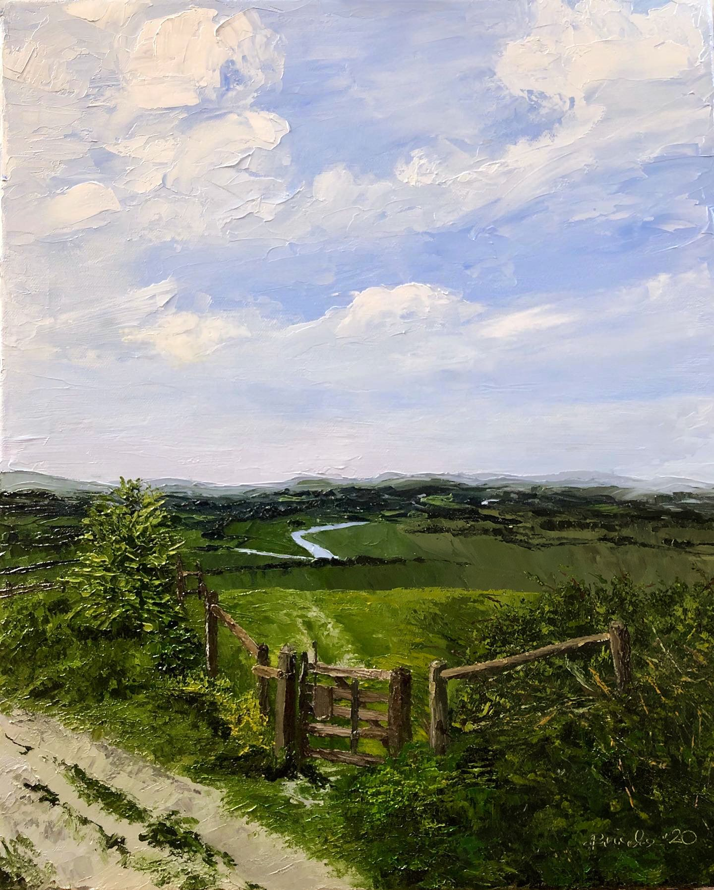 Painting view of Amberley Mount