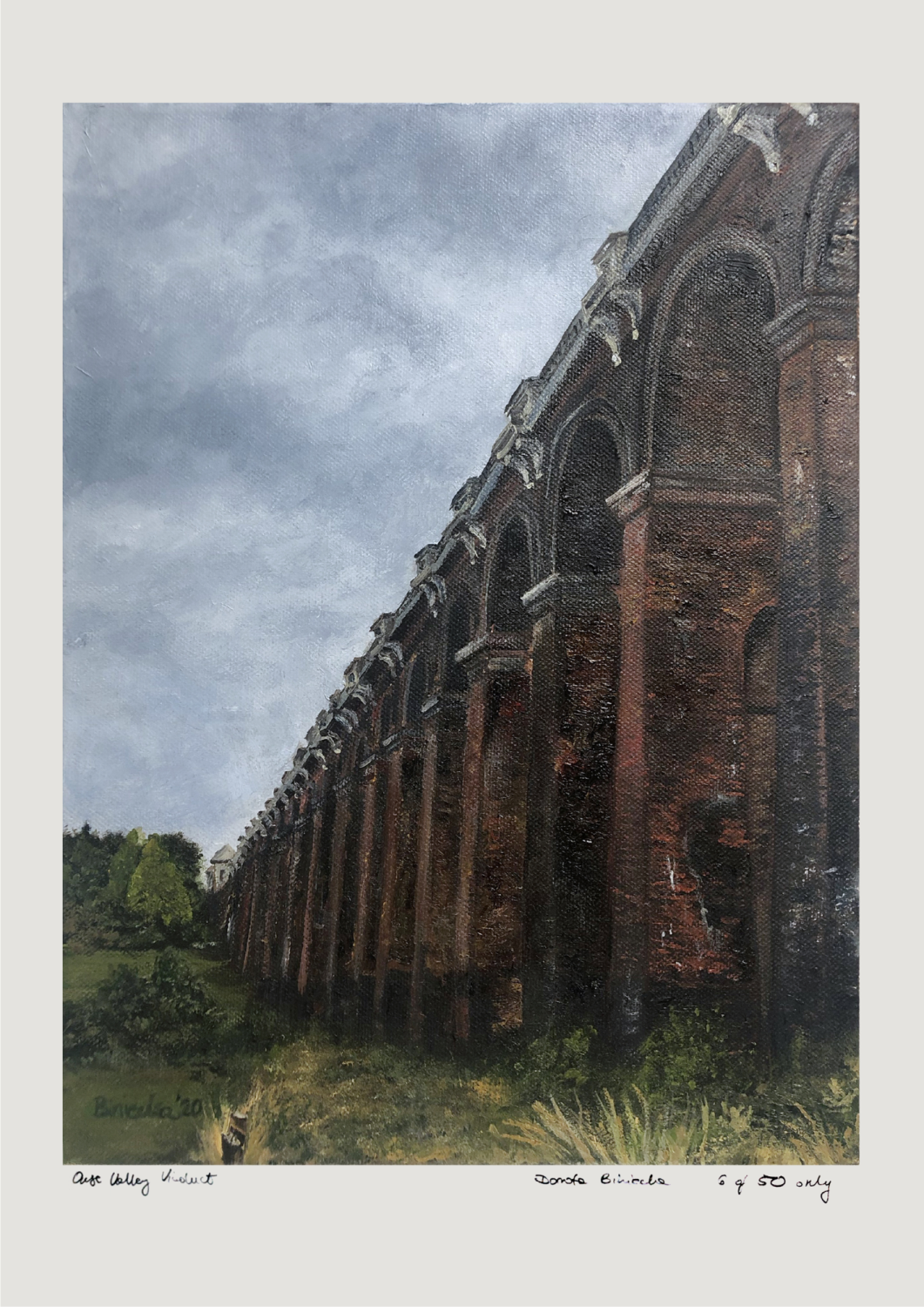 Ouse Valley Viaduct Giclée Print A2