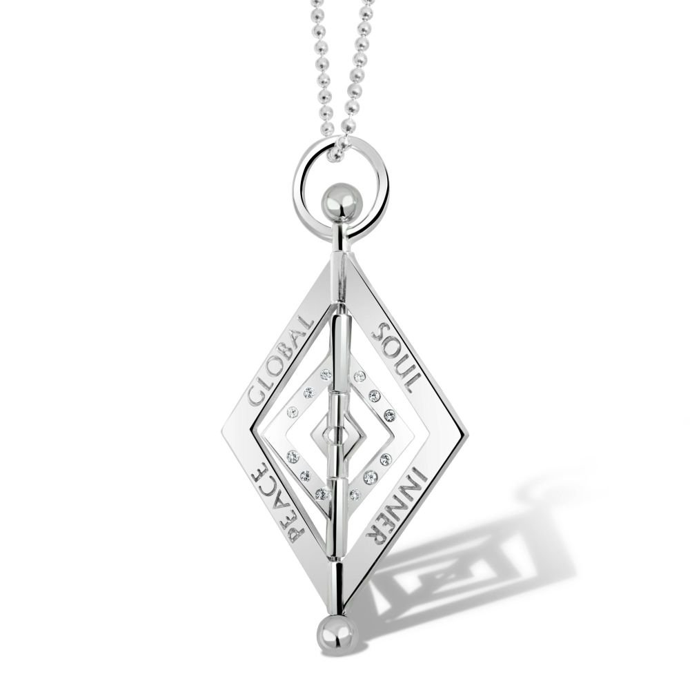 Balance Diamond Silver Pendant Necklace