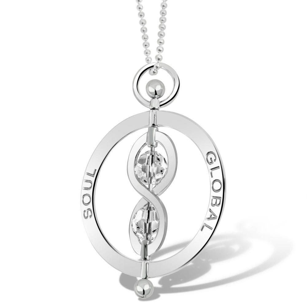 Infinity Soul Silver Pendant Necklace 5cm