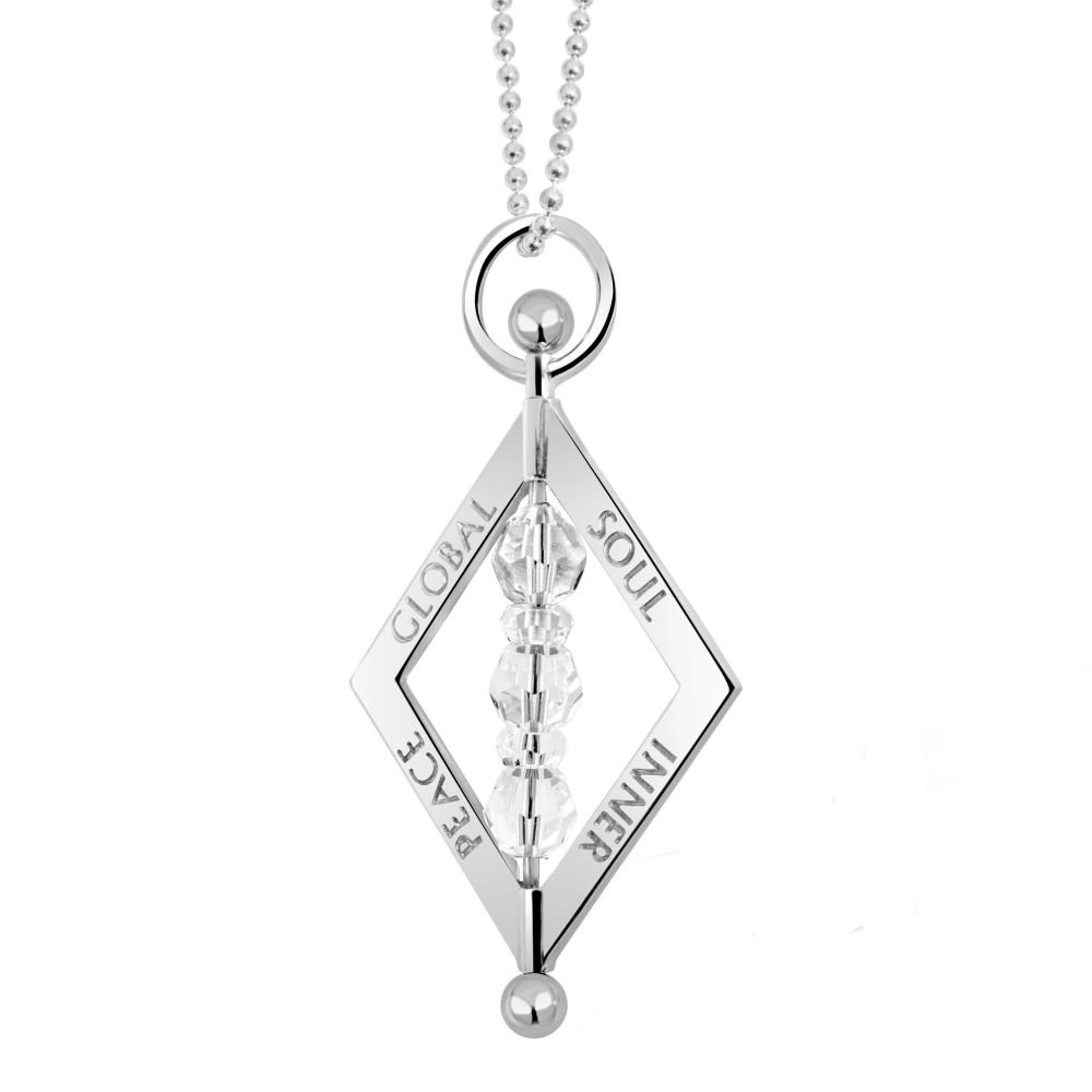 Balance Crystal Silver Pendant Necklace