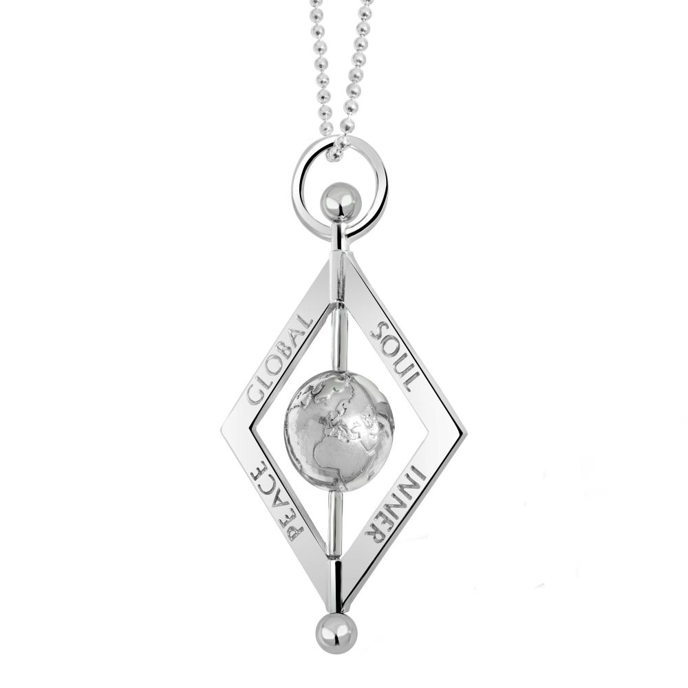 Balance World Peace Silver Pendant Necklace