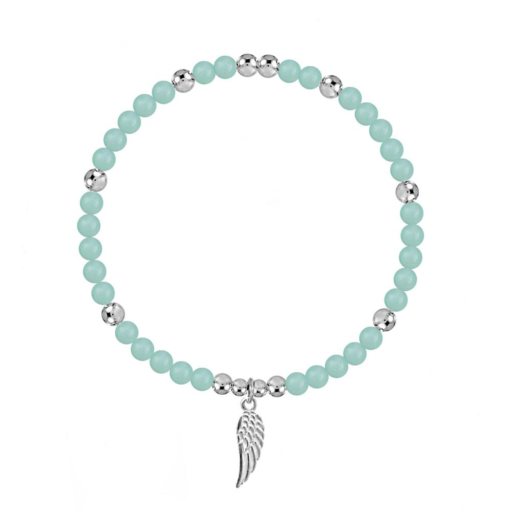 Angel By My Side Amazonite Stretch Bracelet