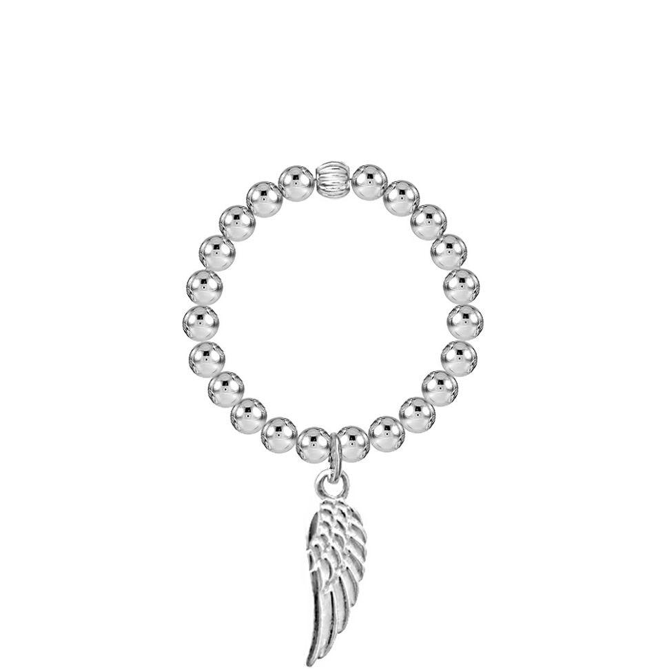 Angel By My Side Silver Stretch Ring
