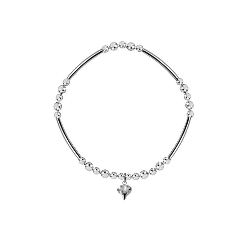 Heart Full of Love Noodle Stretch Bracelet