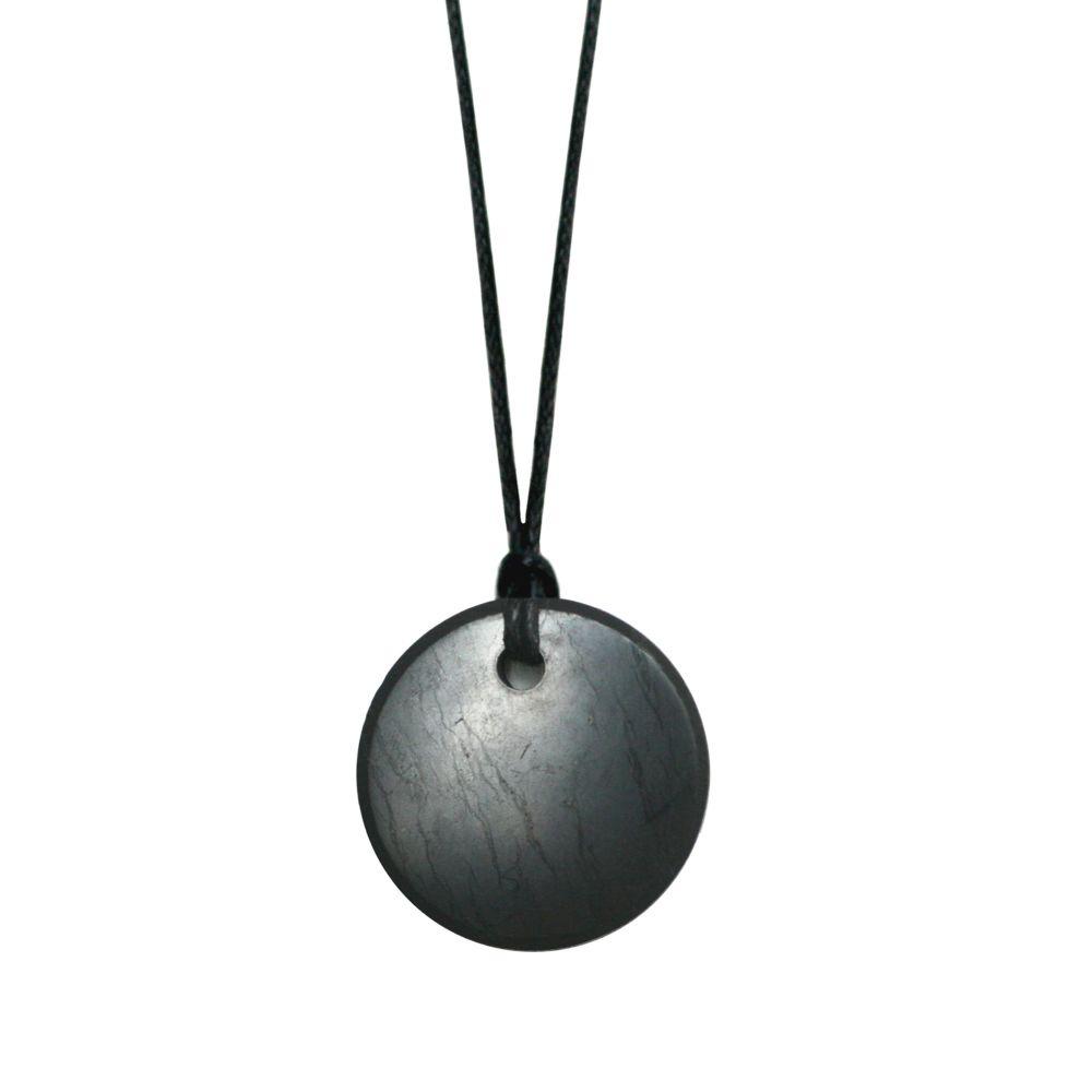 Shungite 3cm Round Pendant