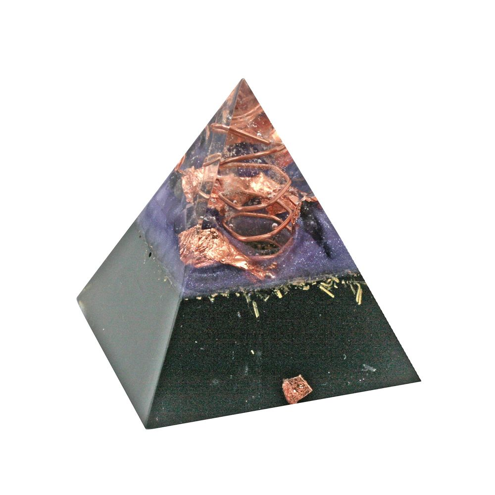 Orgonite Amethyst Positive Pyramid