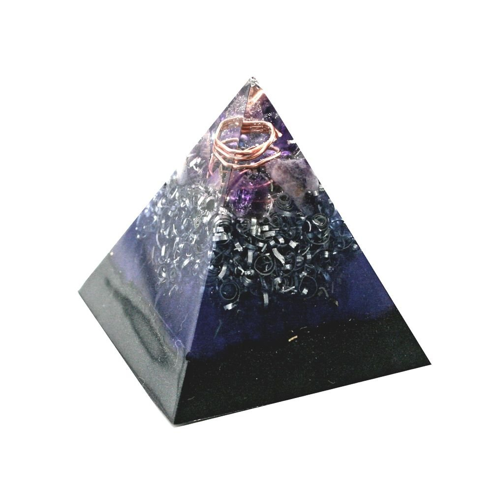 Orgonite Amethyst Calming  Pyramid